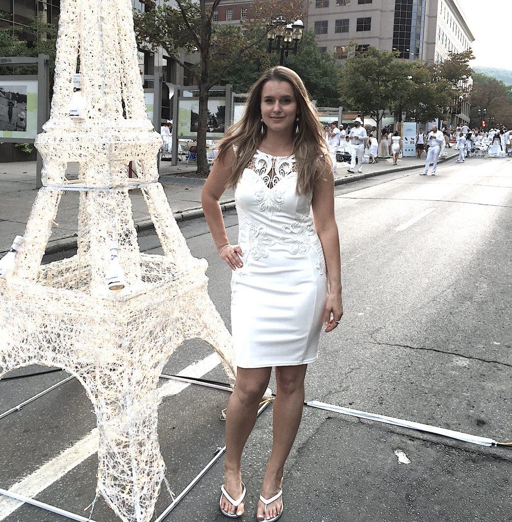 diner en blanc robe blanche