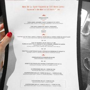 menu de la saint valentin au six resto lounge