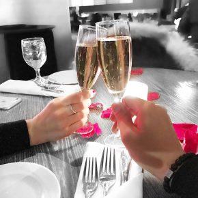 menu de la saint valentin au six resto lounge bulles