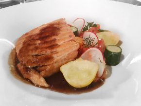 menu de la saint valentin au six resto lounge saumon