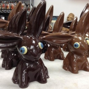 Lapins de Pâques par Christophe Morel, chocolatier