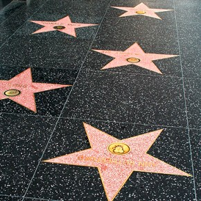 Stars on the Hollywood Walk of Fame, Hollywood Boulevard, Hollywood, Los Angeles, California.