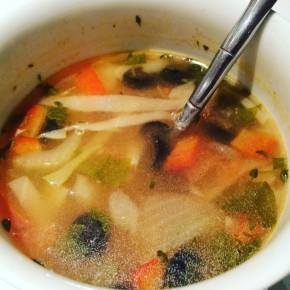 régime soupe méditéranéenne