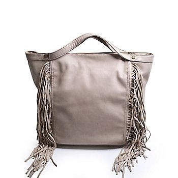 mode printemps 2016 sac à franges taupe