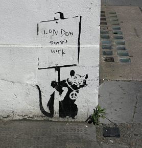 bansky - rat anarchique