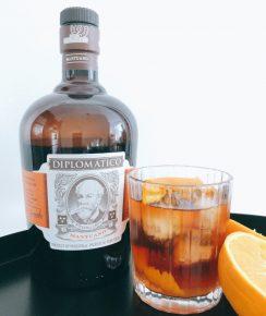 Cocktail Old Fashioned conçu avec le rhum Diplomático Mantuano