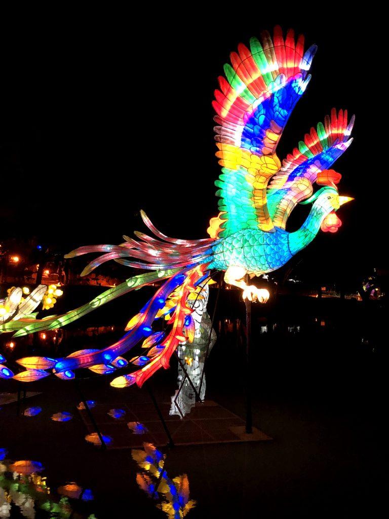 Jardin de Chine - Lanterne oiseau